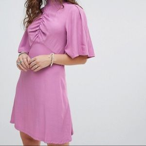 Free People Call Me Baby Button Back Dress